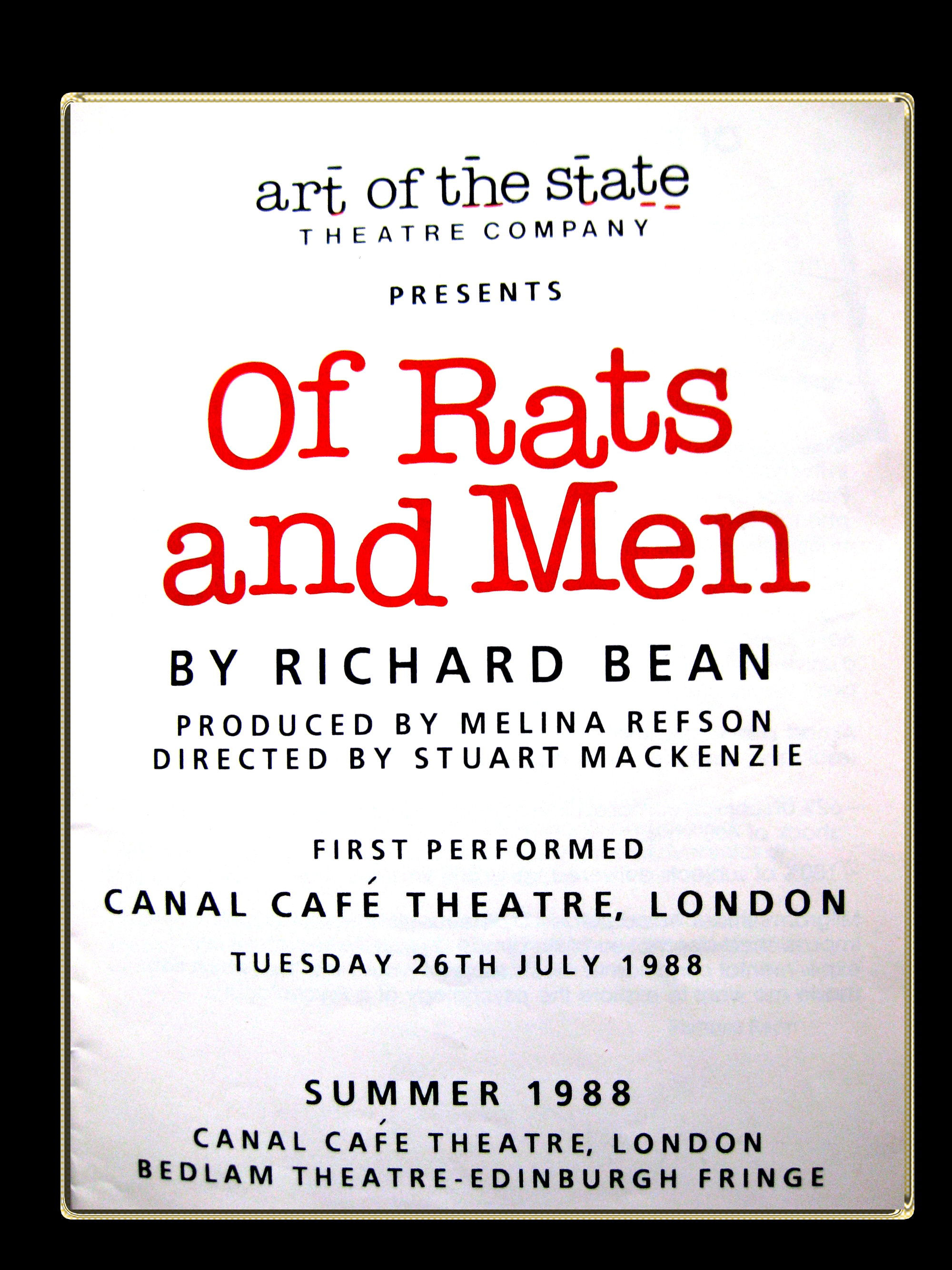 art of the state programme